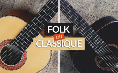 Les différences entre la guitare classique et la folk
