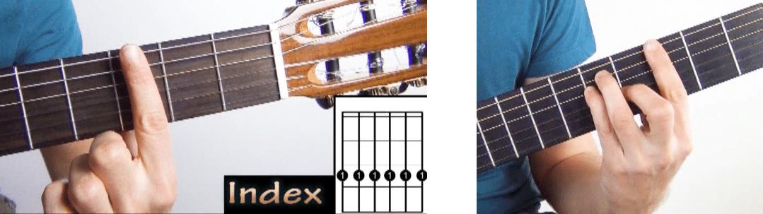 La Guitare en 3 Jours - comment faire sonner un barré index exemple