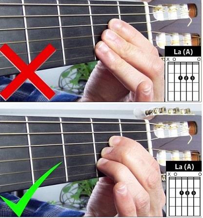 La Guitare en 3 jours - bien placer ses doigts accord de La