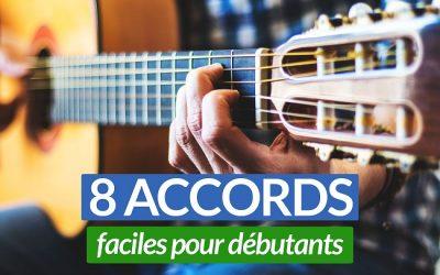 Apprenez les 8 principaux accords de guitare faciles pour débutants