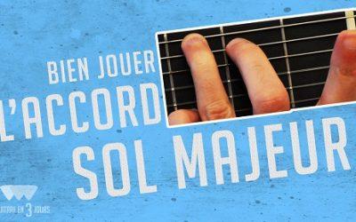 Bien jouer l'accord de Sol majeur à la guitare quelle position choisir
