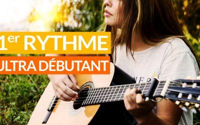 Votre tout premier rythme facile à la guitare tuto débutant