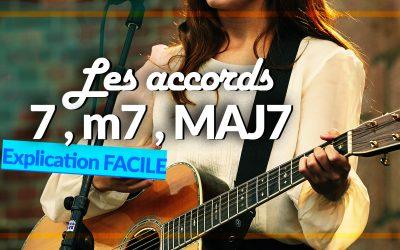 Comment jouer un accord 7, m7 et MAJ7 à la guitare ?