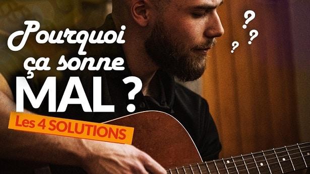Comment bien faire sonner les accords de guitare – 4 conseils faciles pour bien jouer
