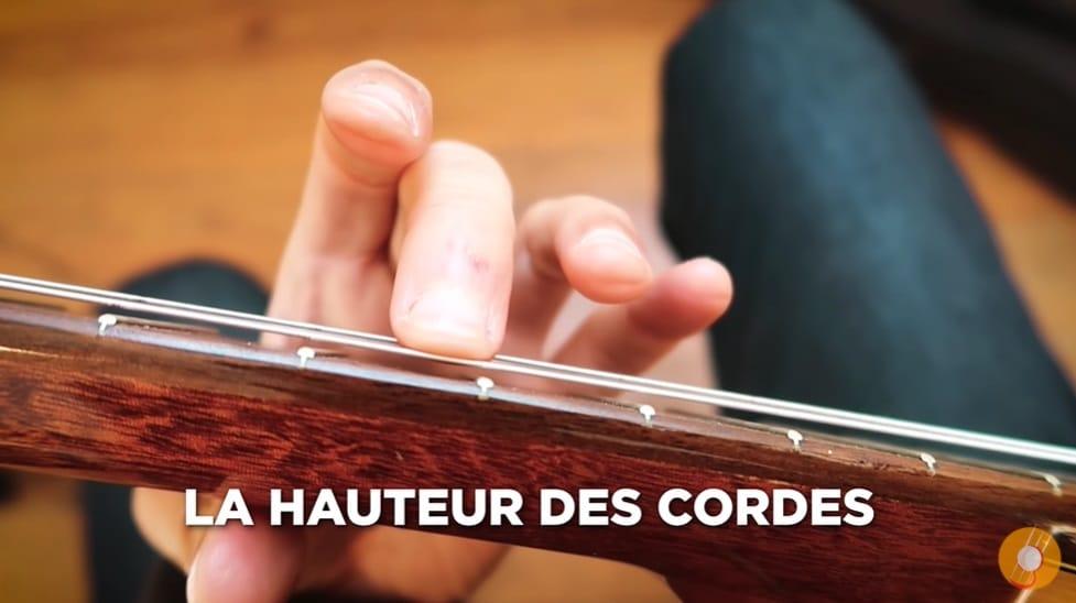 Régler la hauteur des cordes - La Guitare en 3 Jours