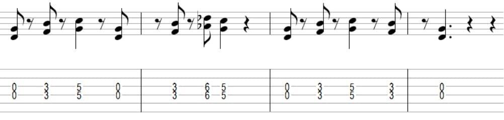 Deep Purple Smoke on the Water - 7 mélodies connues faciles à jouer votre premier cours de guitare débutant