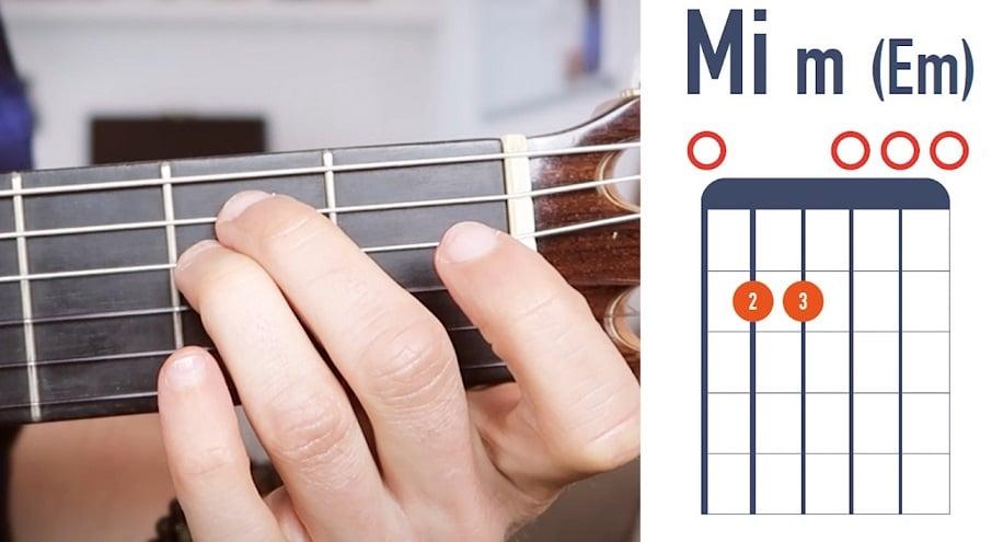 Accord de Mi mineur à la guitare débutant - La Guitare en 3 Jours