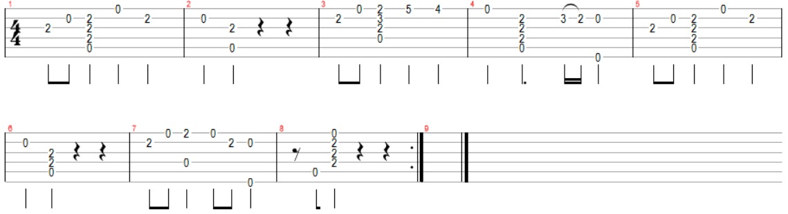 Tablature guitare seigneur des anneaux lord of the rings